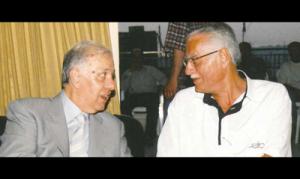 الرافعي متحدثاً الى عميد «التمدن» فايز سنكري